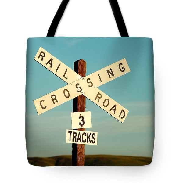 Railroad Crossing Tote Bag