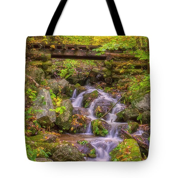 Railroad In The Woods Tote Bag