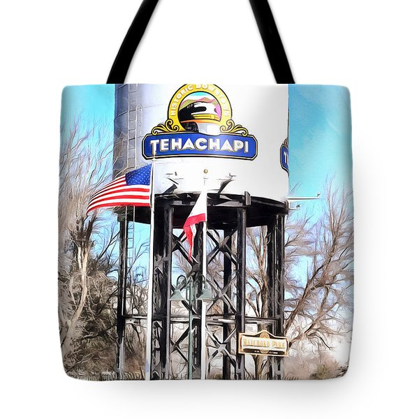Tote Bag featuring the photograph Railroad Park Tehachapi California by Floyd Snyder