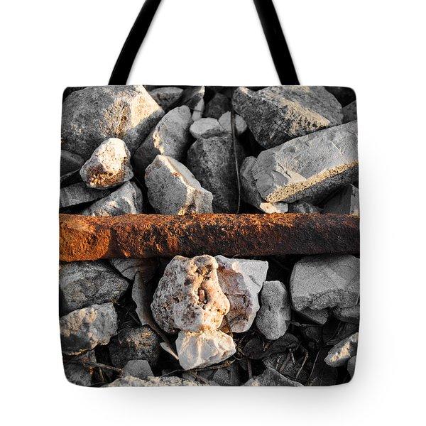 Railroad Spike Tote Bag