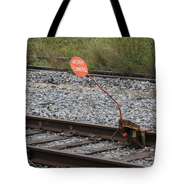 Railroad Work Limit Tote Bag