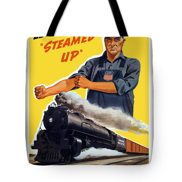 Railroads Are The First Line Of Defense Tote Bag