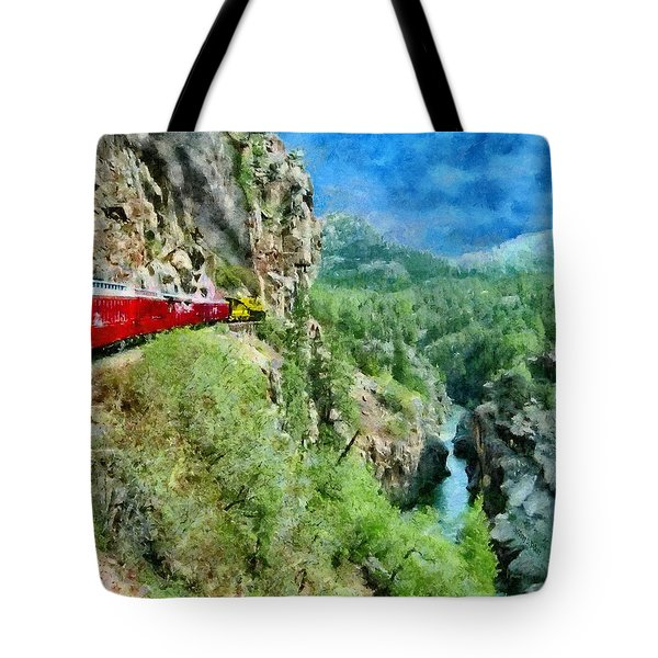 Rails Above The River Tote Bag