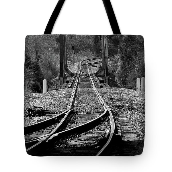 Tote Bag featuring the photograph Rails by Douglas Stucky