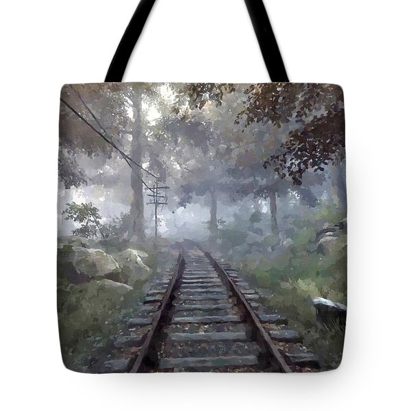 Rails To A Forgotten Place Tote Bag by Kai Saarto