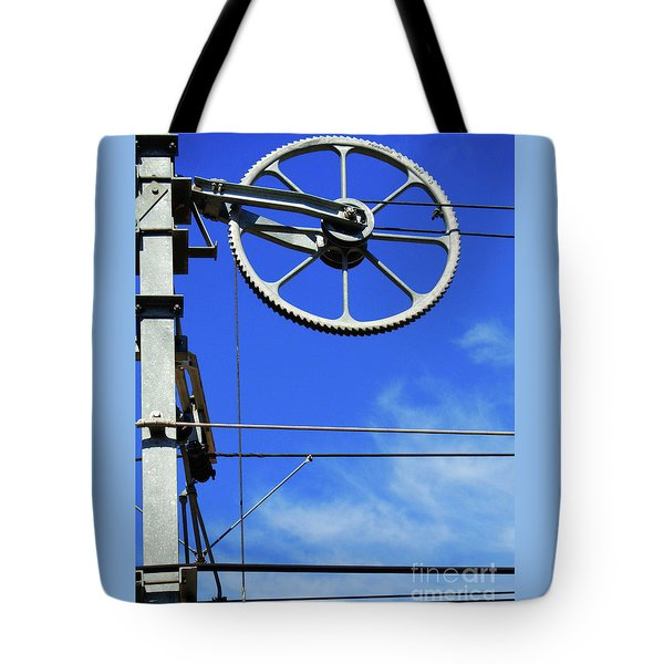 Railway Catenary Tote Bag