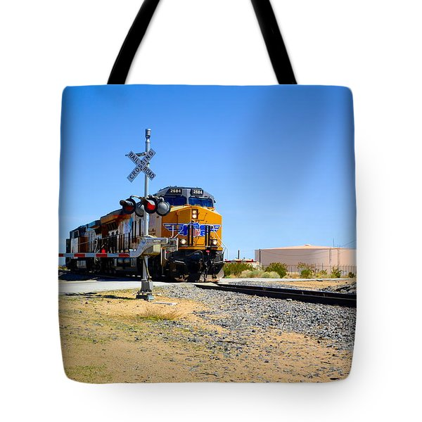 Railway Crossing Tote Bag