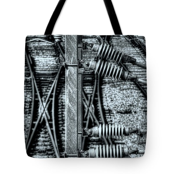Tote Bag featuring the photograph Railway Detail by Wayne Sherriff