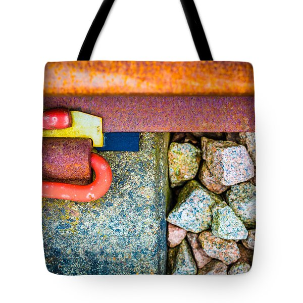 Tote Bag featuring the photograph Railway Track. by Gary Gillette