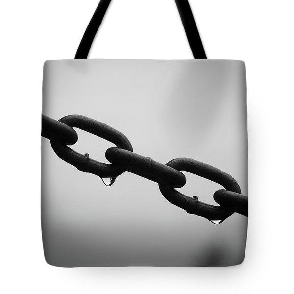 Rain And Chains Tote Bag
