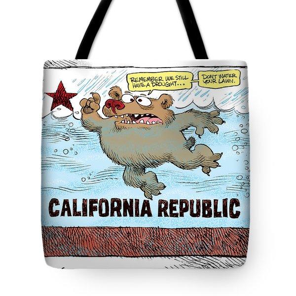 Rain And Drought In California Tote Bag