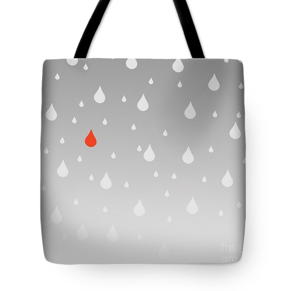 Tote Bag featuring the painting Rain And Tears by Trilby Cole