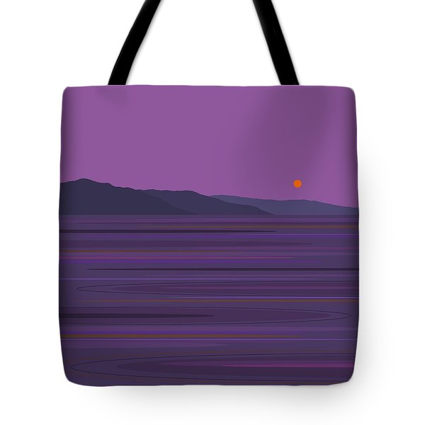 Rain At The Lake Tote Bag by Val Arie