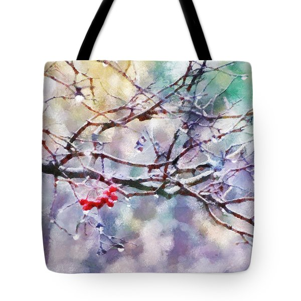 Rain Berries Tote Bag