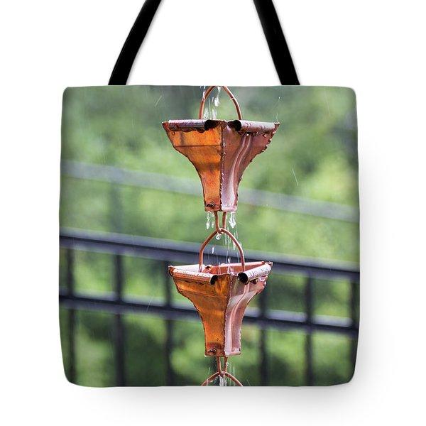 Rain Chains Tote Bag