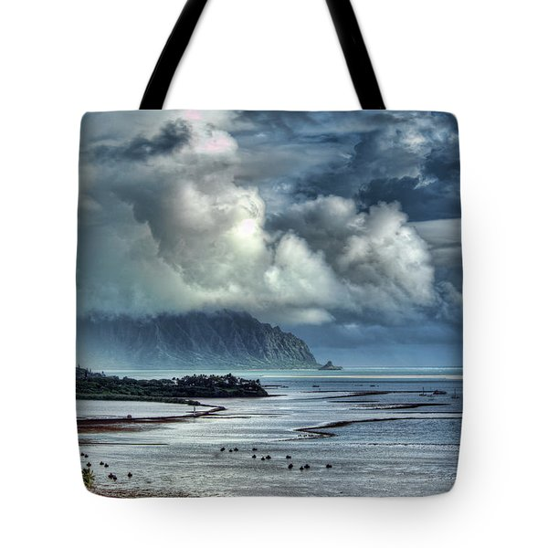 Rain Clearing Kaneohe Bay Tote Bag