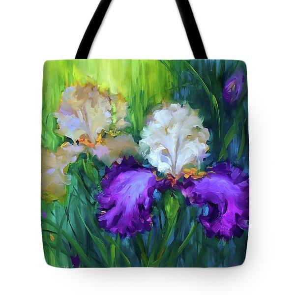 Rain Dance Irises Tote Bag