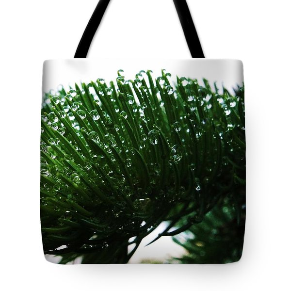 Rain Droplets Tote Bag by J L Zarek