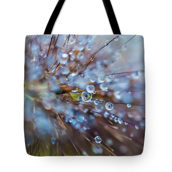 Tote Bag featuring the photograph Rain Drops - 9751 by G L Sarti