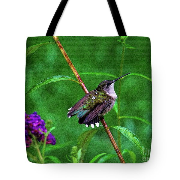 Tote Bag featuring the photograph Rain Drops Keep Fallen On My Head by Sue Melvin