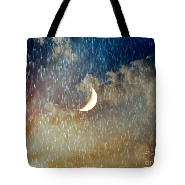 Rain Fall Tote Bag