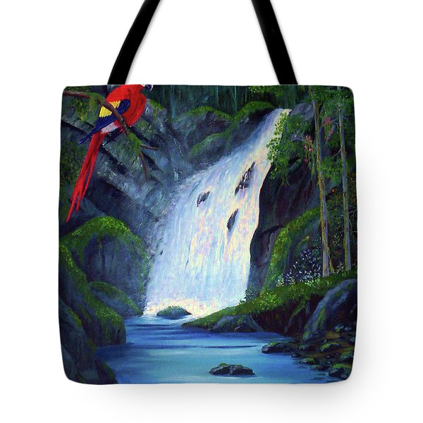 Rain Forest Macaws Tote Bag