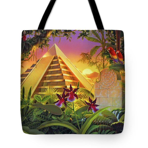 Rain Forest Pyramid  Tote Bag