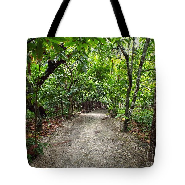 Rain Forest Road Tote Bag