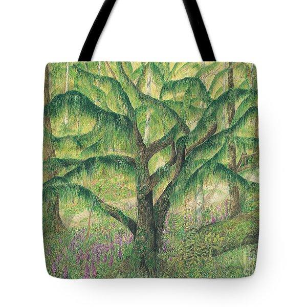 Rain Forest Washington State Tote Bag by Vicki  Housel