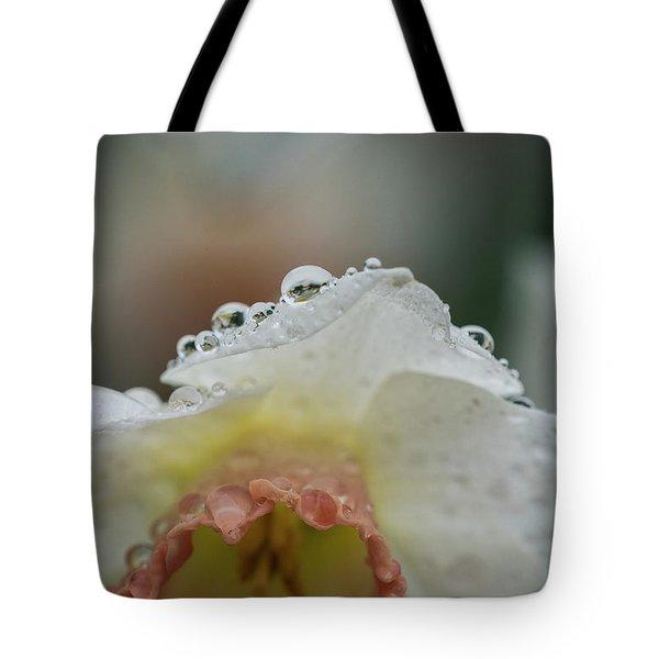 Rain In Daffodils Tote Bag
