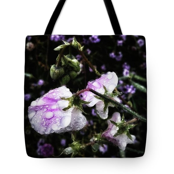 Tote Bag featuring the photograph Rain Kissed Petals. This Flower Art by Mr Photojimsf