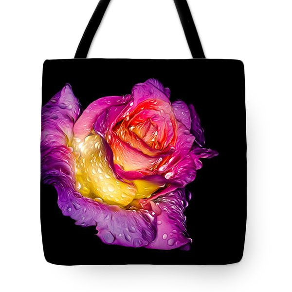 Rain-melted Rose Tote Bag