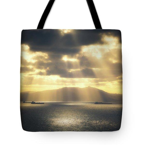 Rain Of Light Tote Bag