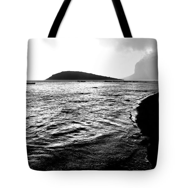 Tote Bag featuring the photograph Rain On Sea And Shore by Julian Cook