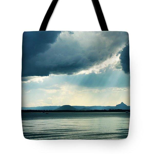 Rain On The Glass Mountains Tote Bag