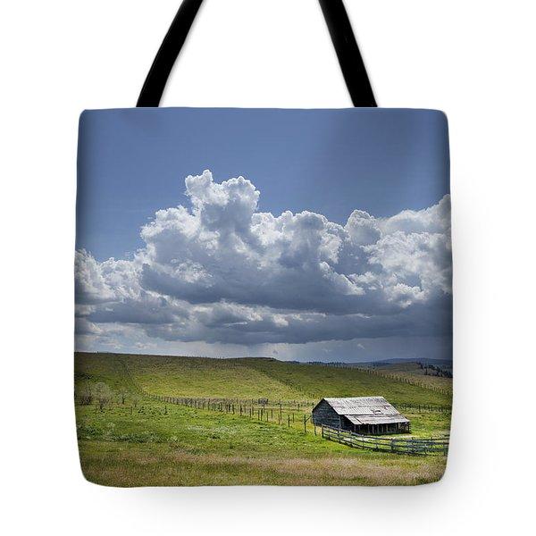 Rain On The Horizon Tote Bag