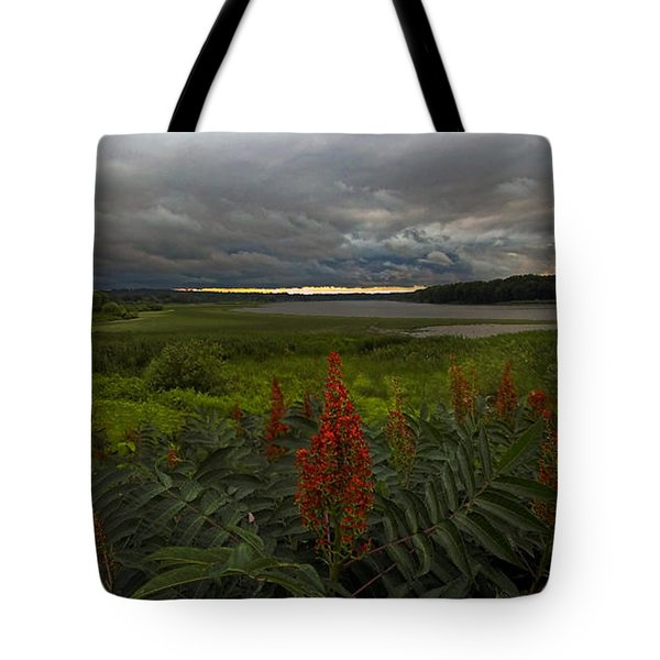 Rain Over The Mohawk Tote Bag