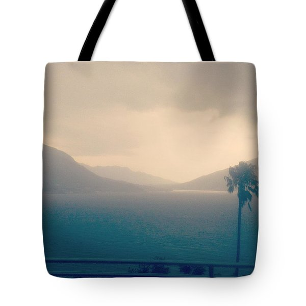 Storm Over The Sea Tote Bag