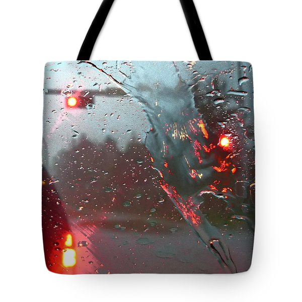 Rain Tote Bag by Rhonda McDougall
