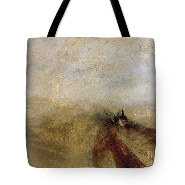 Rain Steam And Speed Tote Bag by Joseph Mallord William Turner