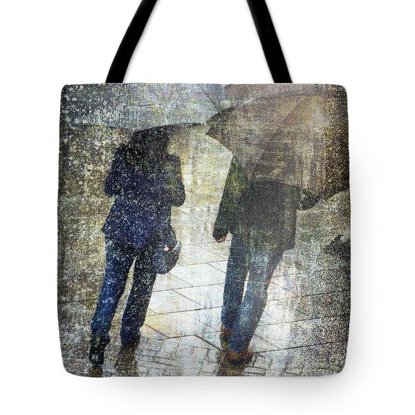Rain Through The Fountain Tote Bag