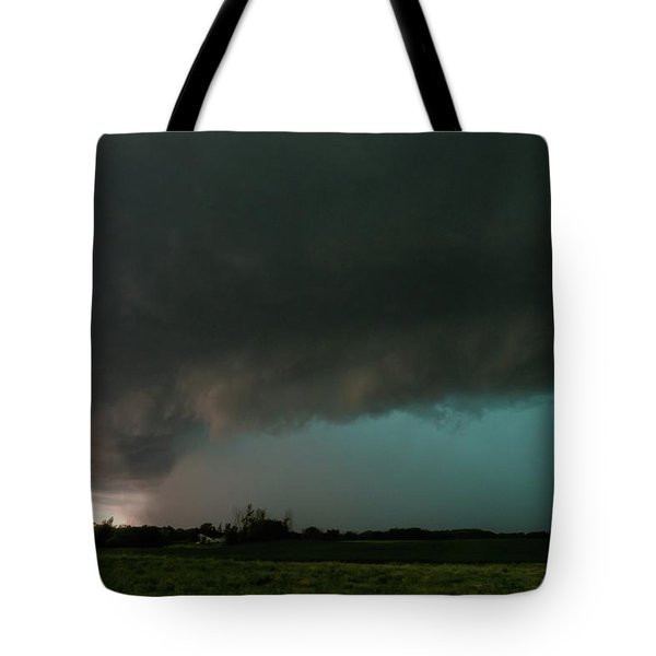 Rain-wrapped Tornado Tote Bag
