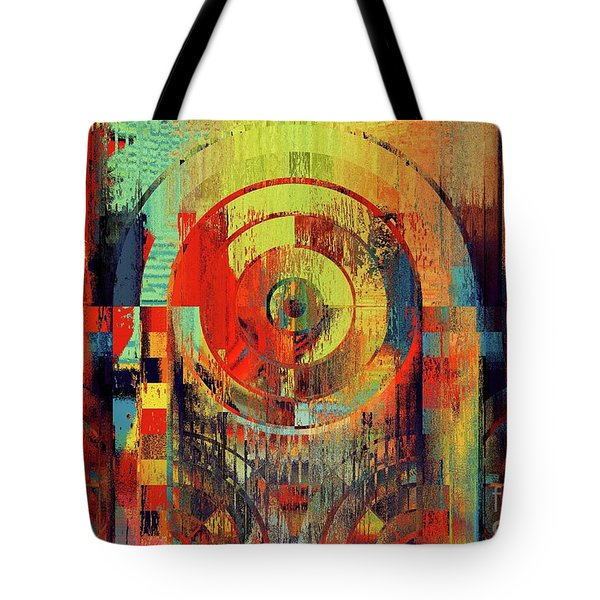 Tote Bag featuring the digital art Rainbolo - 01t01ii by Variance Collections