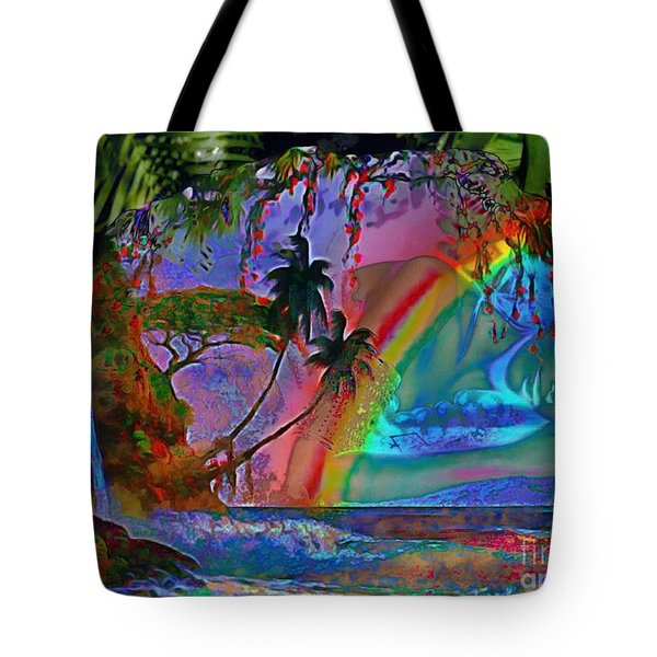 Rainboow Drenched In Layers Tote Bag by Catherine Lott