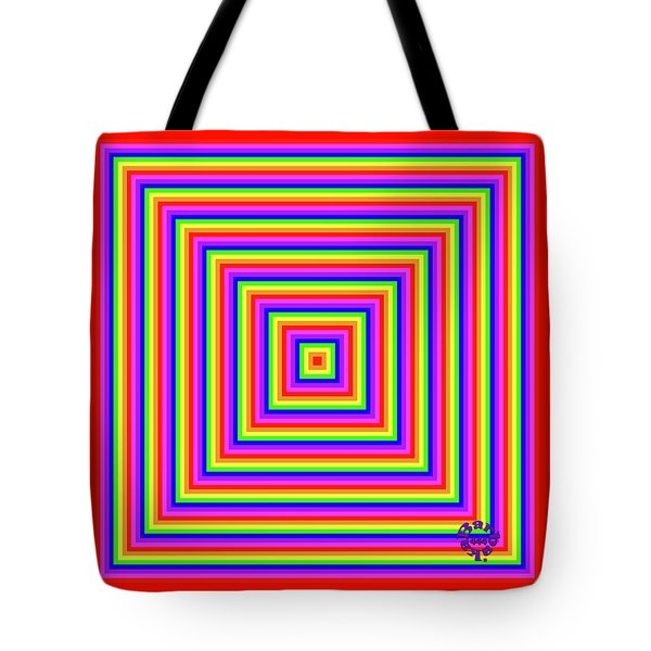 Tote Bag featuring the digital art Rainbow #1 by Barbara Tristan