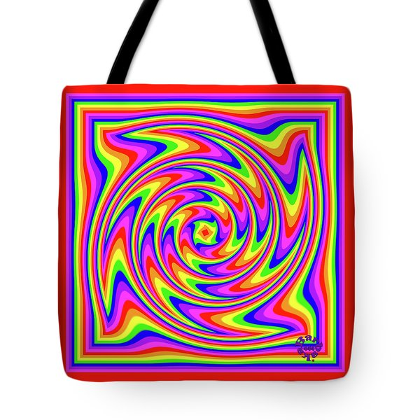 Tote Bag featuring the digital art Rainbow #2 by Barbara Tristan