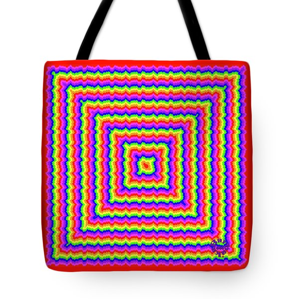 Tote Bag featuring the digital art Rainbow #3 by Barbara Tristan