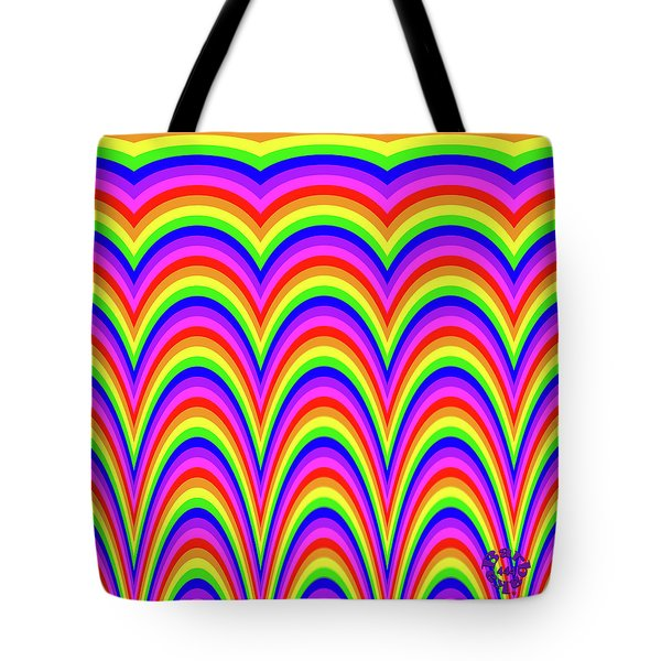 Tote Bag featuring the digital art Rainbow #4 by Barbara Tristan