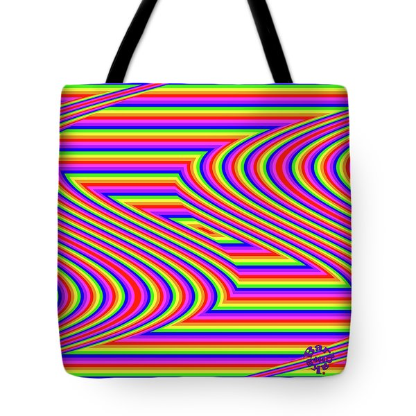 Tote Bag featuring the digital art Rainbow #5 by Barbara Tristan