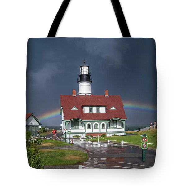 Tote Bag featuring the photograph Rainbow After The Storm by Darryl Hendricks